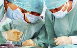 Начало операции на яичнике